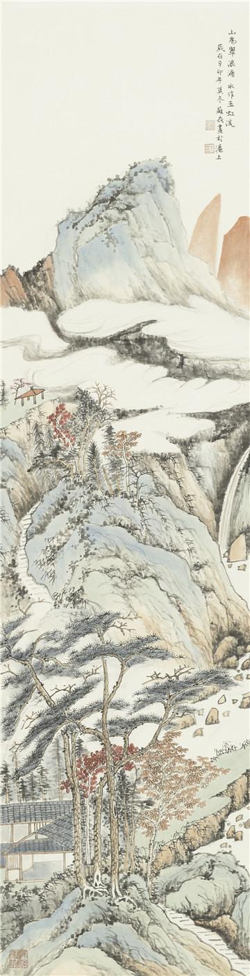 《山为翠浪涌 水作玉虹流》——苏轼诗意图.jpg