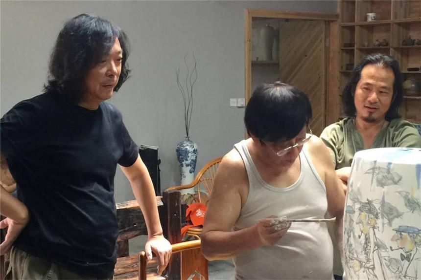 2017年6月在秦古窑与俞晓夫老师一起a.jpg