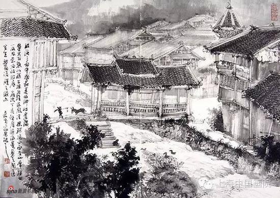 贵州写生图 汪家芳 42×46cm 2007年