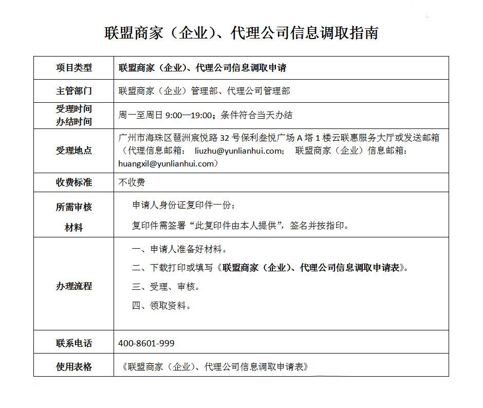 联盟商家(企业)、代理公司信息调取.jpg