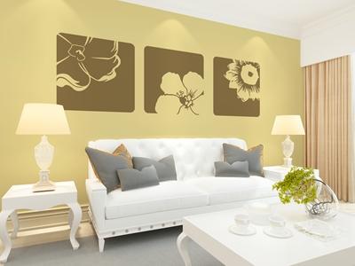 硅藻泥客厅装修效果图