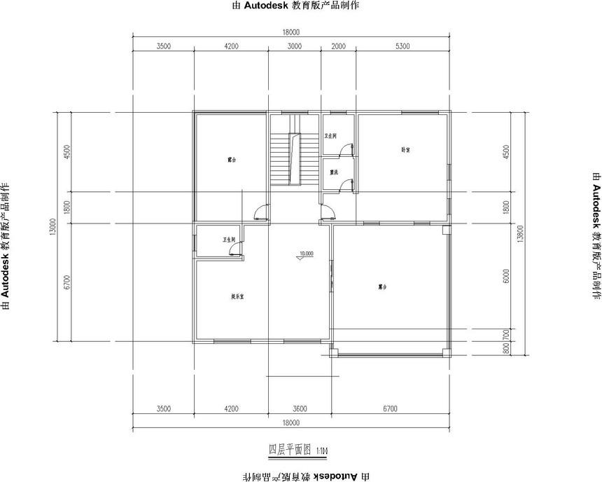 四层豪华新农村别墅自建房别墅图纸四层平面图