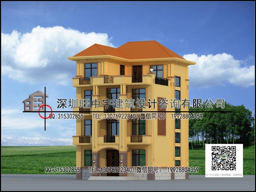 农村别墅自建房四层效果图设计图