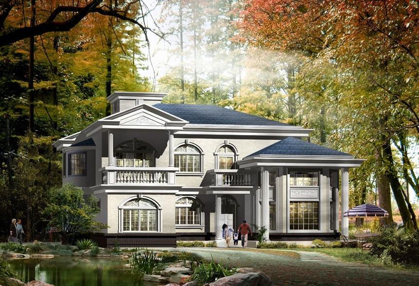 北京郊区二层新农村别墅自建房设计图