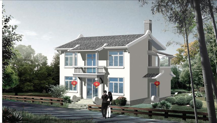 兩層新農村別墅自建房圖紙