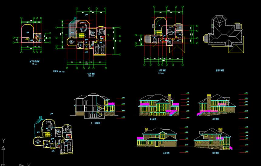 二层实用新农村别墅自建房图纸免费下载
