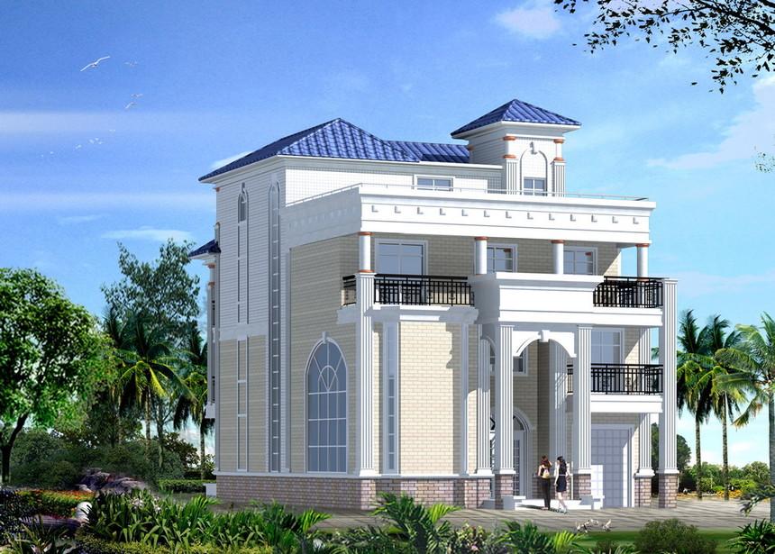 四层豪华新农村别墅自建房图纸