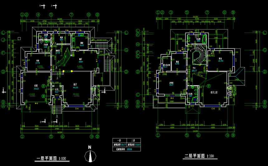 新农村别墅自建房一层平面图