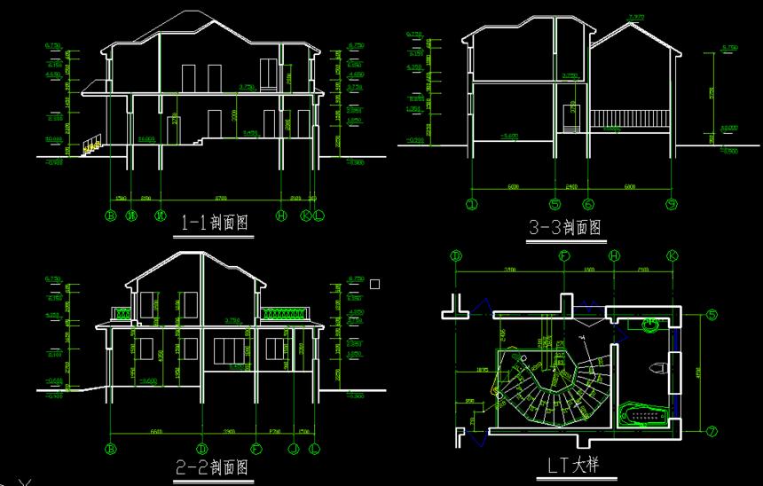 新农村别墅自建房施工图
