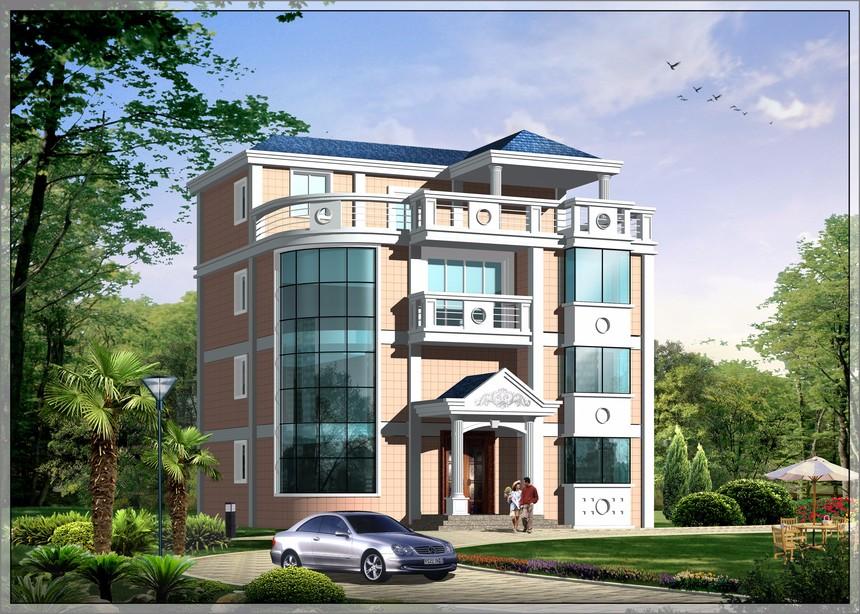 三层半框架结构新农村别墅图自建房图纸