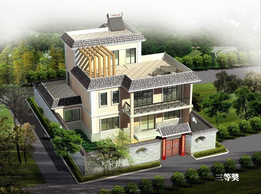三层独栋新农村别墅自建房图纸