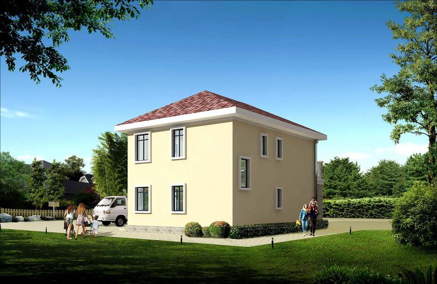 简单经济适用两层新农村别墅自建房全套施工图