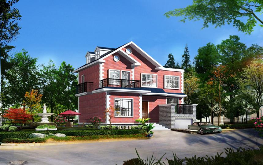 免费经典二层新农村别墅自建房设计图