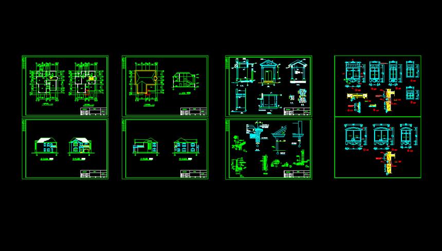 两层新农村别墅自建房设计图纸施工图