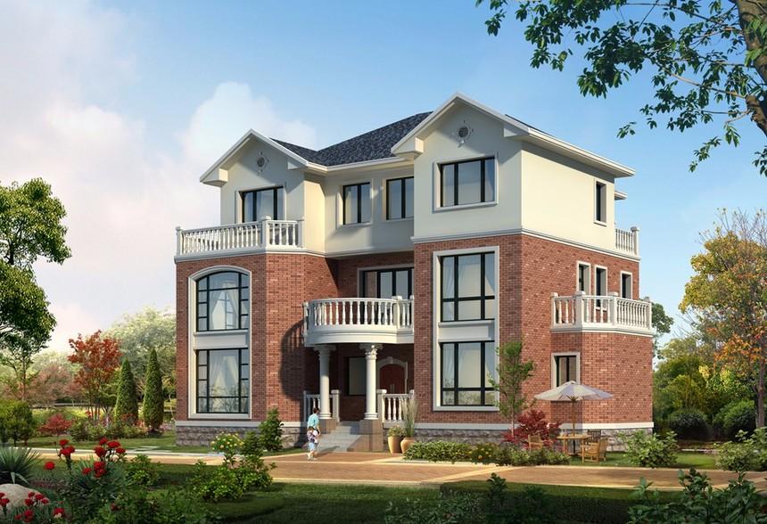 三层独栋新农村别墅自建房框架结构图纸