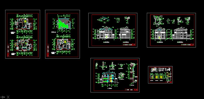 三层独栋新农村别墅自建施工图