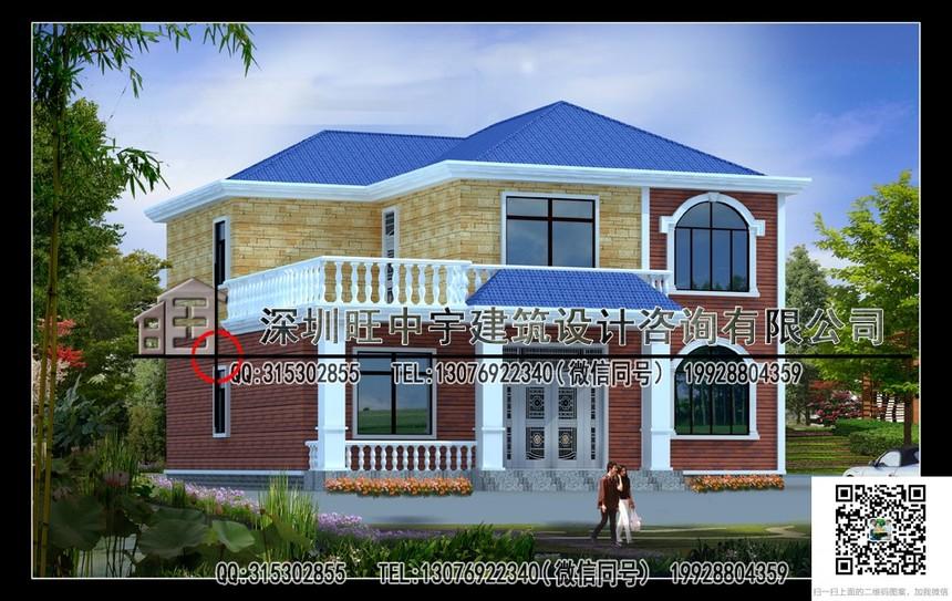 大气实用砖混结构二层新农村别墅自建房设计图