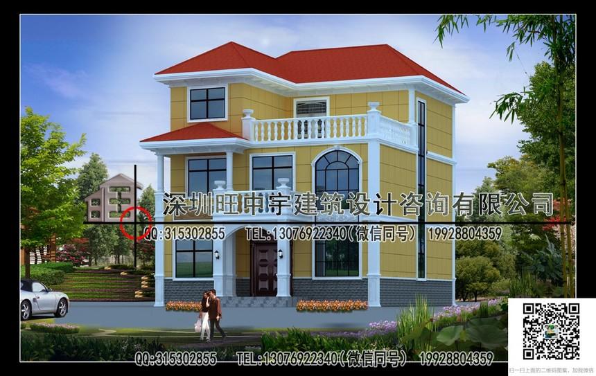 三层带露台新农村别墅自建房设计