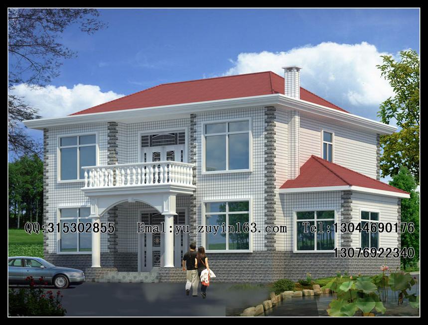 两层大气新农村别墅自建房设计
