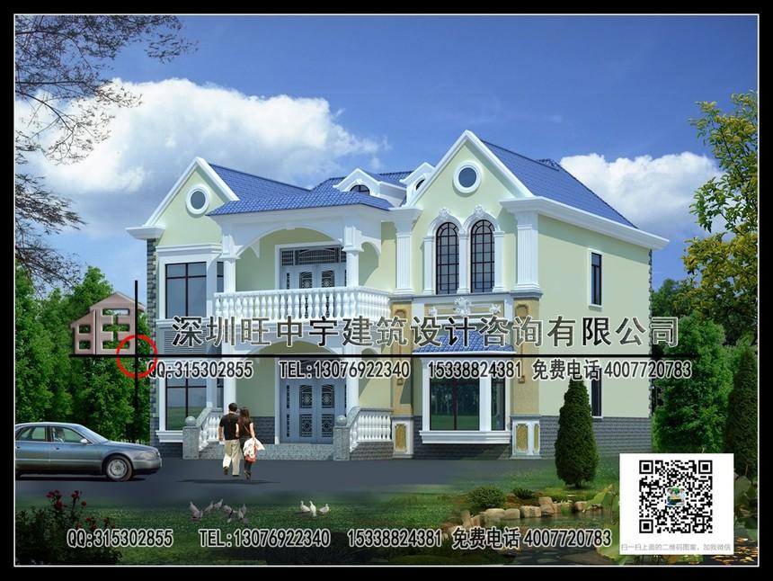 精致小巧型两层新农村别墅自建房效果图