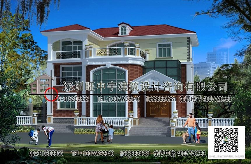 新农村别墅自建房三层效果图