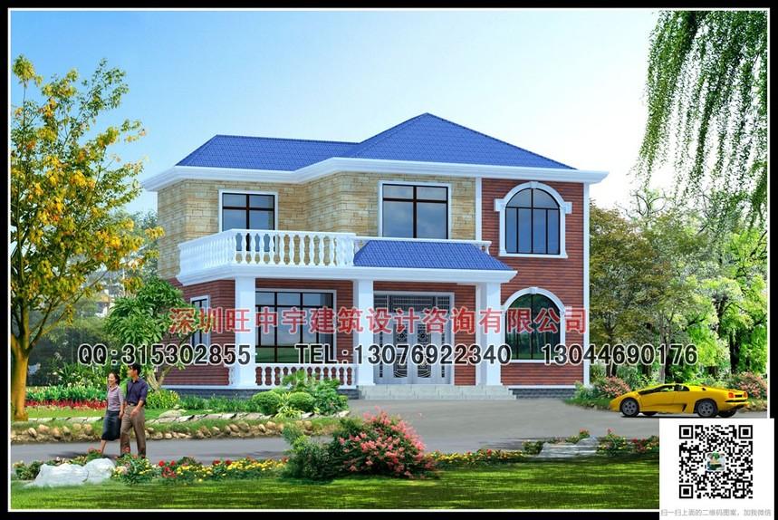 两层小户型新农村别墅自建房