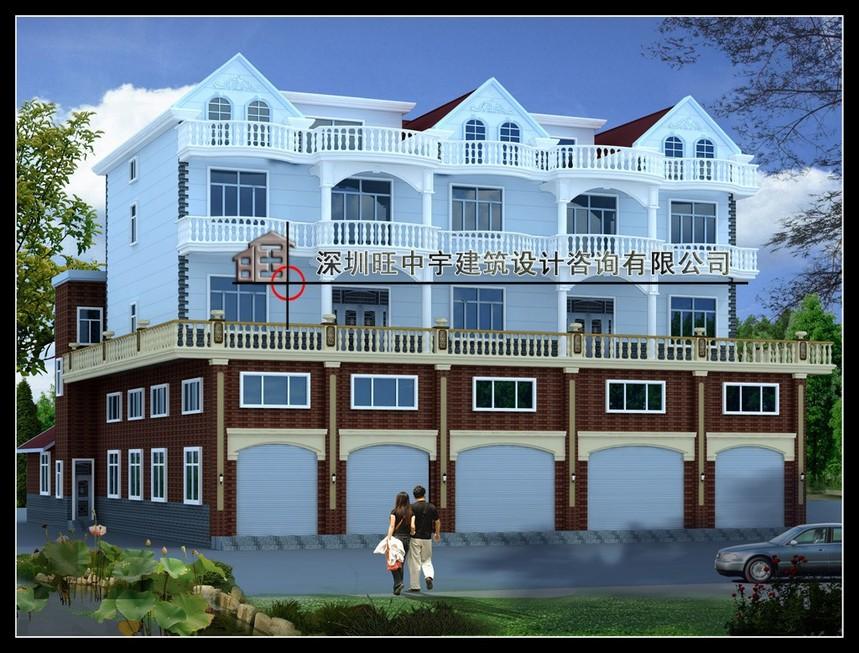 联排农村自建房别墅设计效果图欣赏