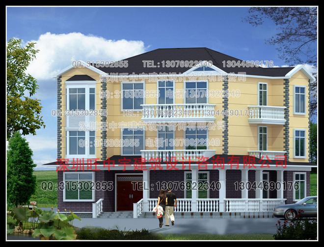 新款三层带露台经典新农村别墅自建房全套图纸