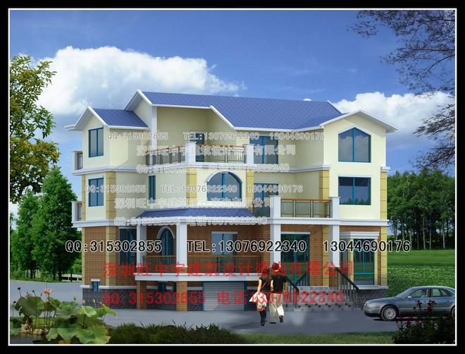 新款三层欧美经典新农村别墅自建房