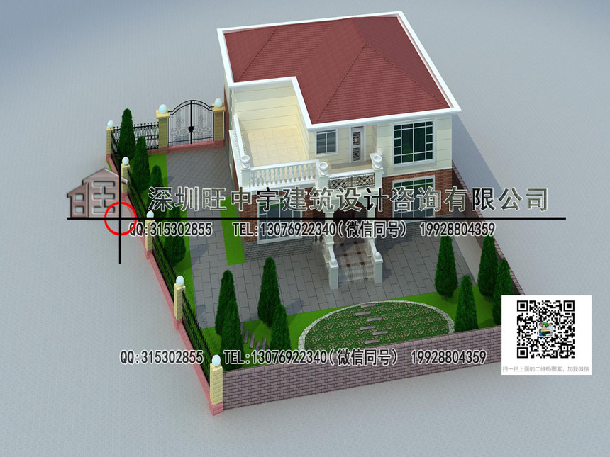 二层带庭院别墅设计