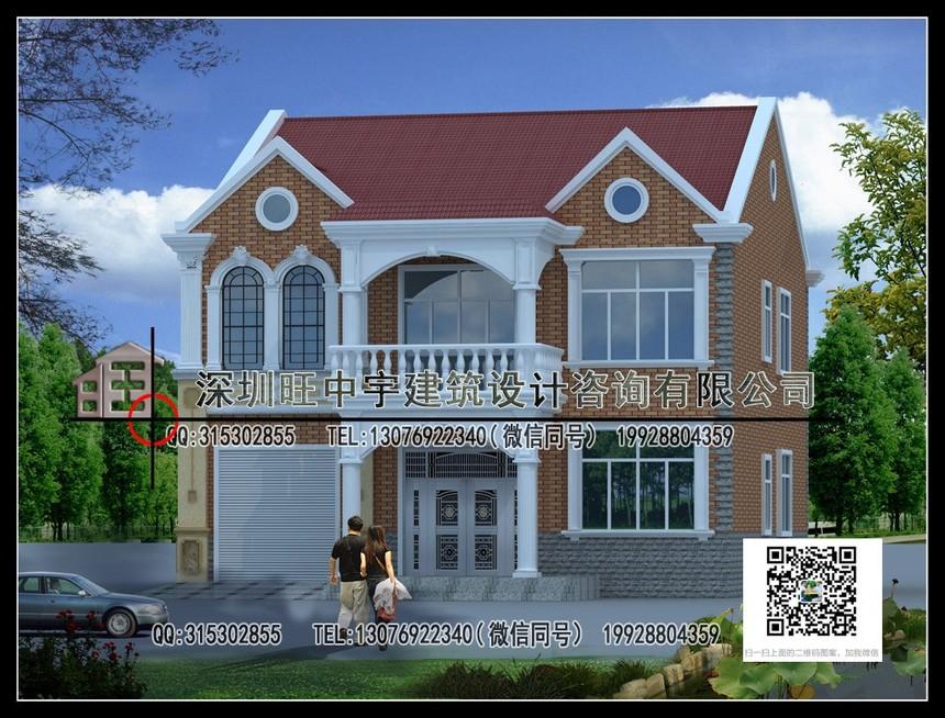 二层大气带车库别墅设计
