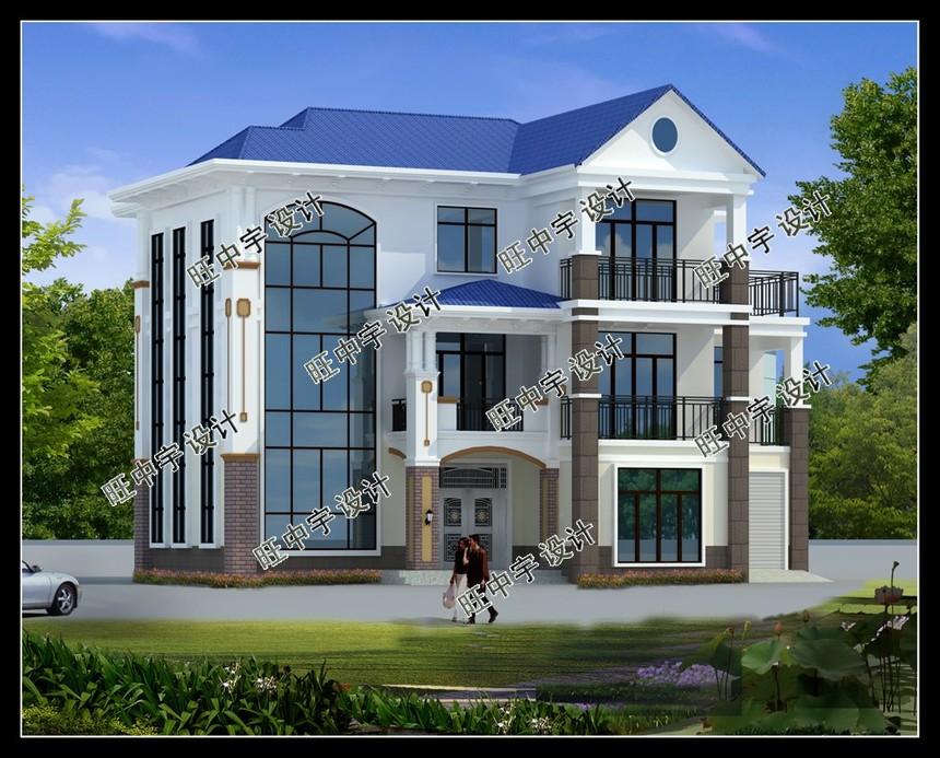 三层带露台框架结构新农村别墅自建房设计