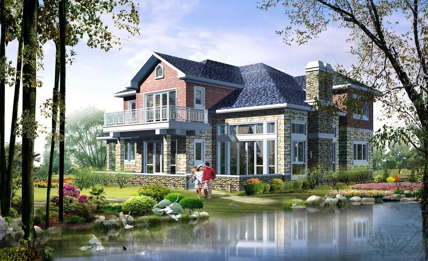 二层独栋新农村别墅自建房图纸
