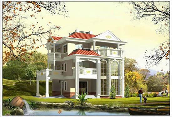 三层新农村别墅自建房图纸