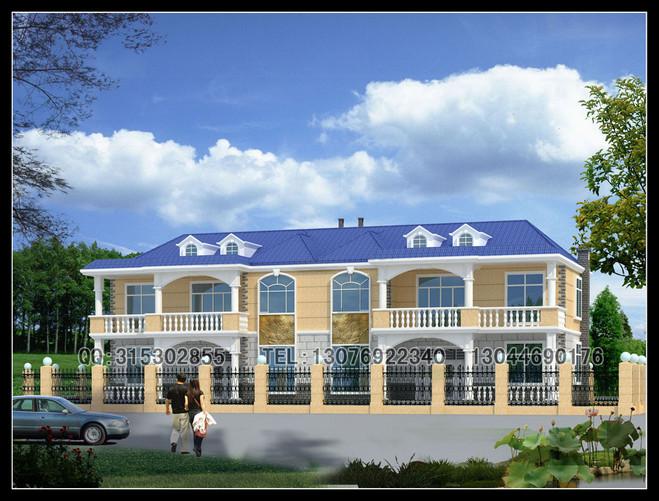 两层新农村自建房联体别墅设计图