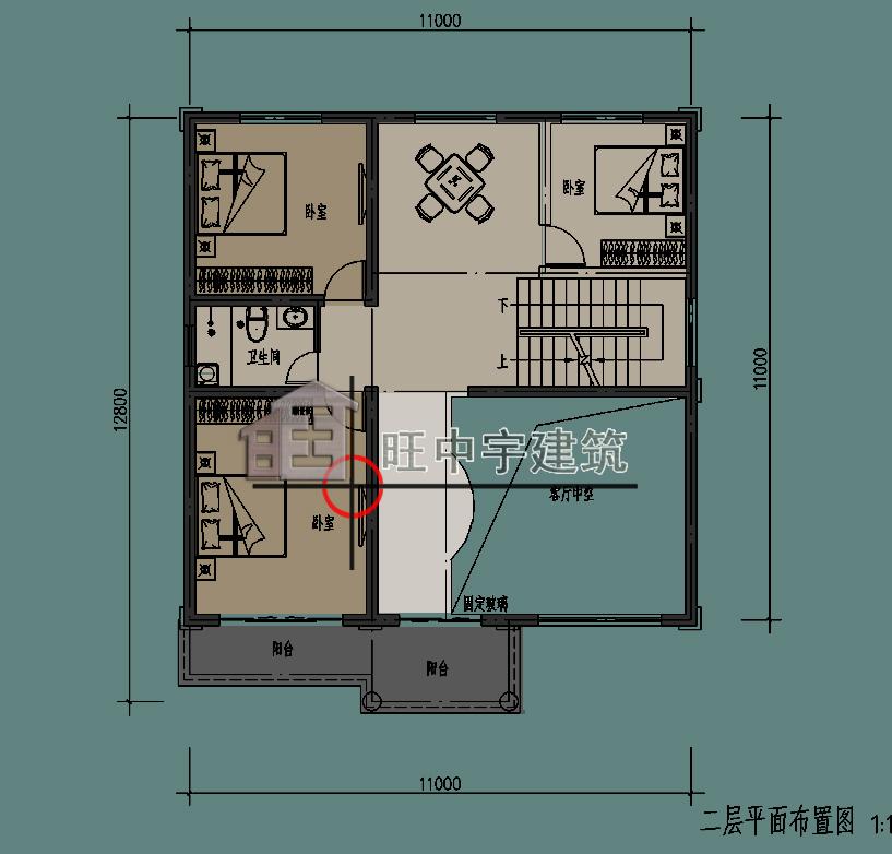 农村小别墅二层平面图