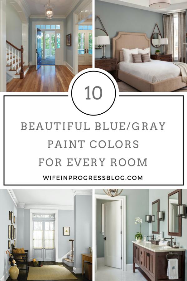 美丽的蓝灰色油漆颜色为您家中的每个房间