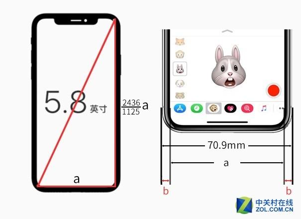 初中数学老师是这样计算iPhone X边框宽度的
