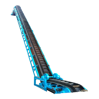 大傾角皮帶輸送機_波狀擋邊帶式輸送機_爬坡式皮帶機_擋邊皮帶機