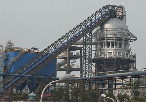 大倾角皮带输送机用在锅炉输煤炭系统