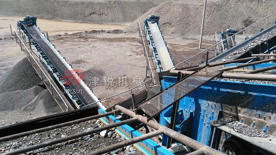 津锐机械厂在国外砂石生产线的配套设备