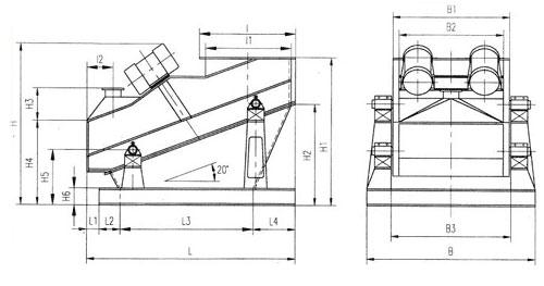 重型振动筛结构图