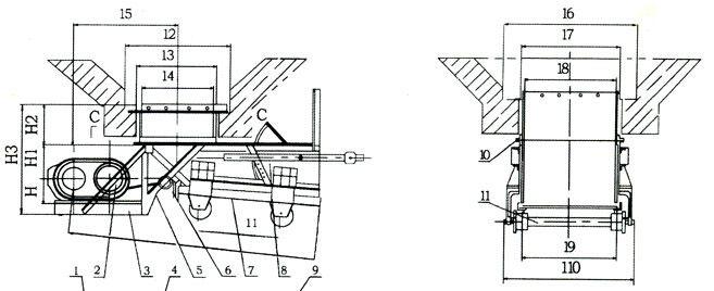 K型往複式給煤機