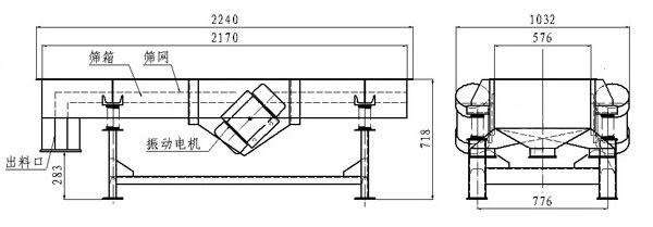 轻型直线振动筛