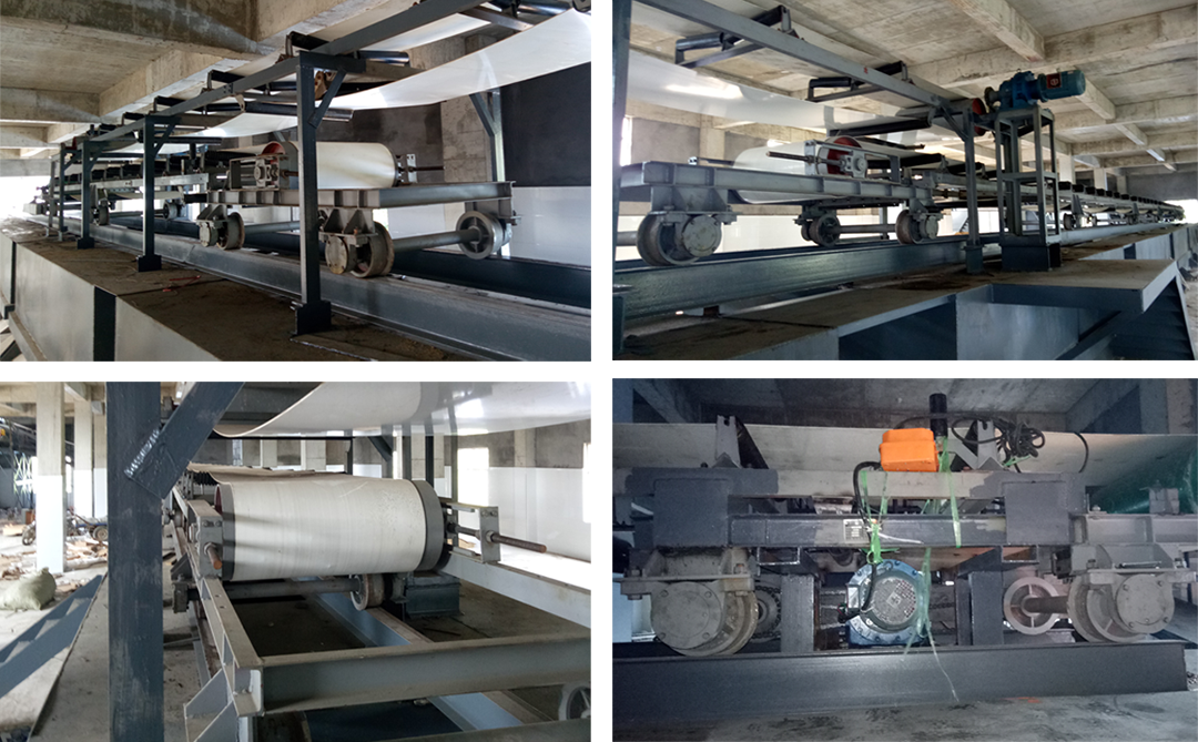 这是新乡市津锐机械厂在2017年为周口的化工厂设计生产输送元明粉(洗衣粉)物料