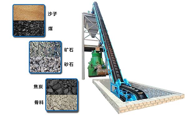 大倾角挡边皮带输送机是沙子、煤、矿石、砂石、骨料、焦炭等物料大角度输送设备之一;