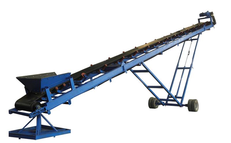 移动式皮带输送机主要特点:承载能力高、寿命长(可达10年)、结构聚凑、占地面积小(可减少50%以上),重量轻,体积小