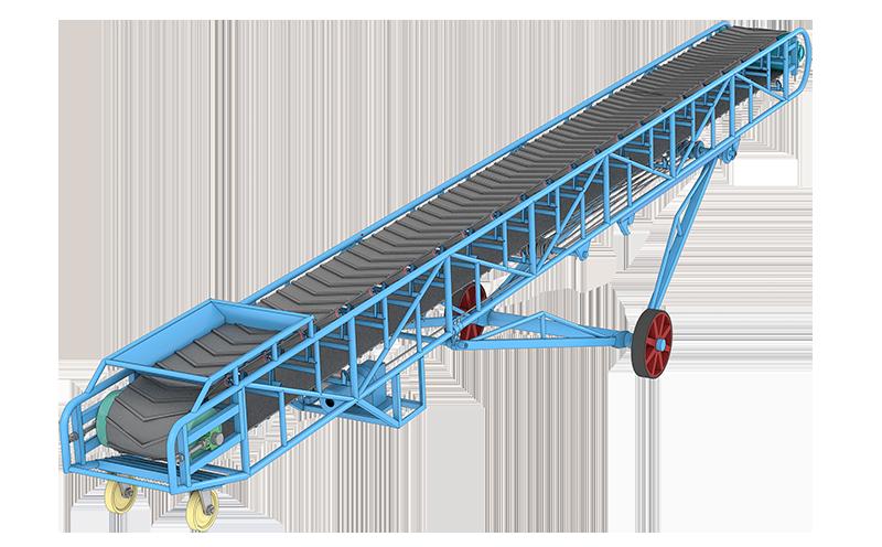 津锐机械厂生产的DY移动式皮带输送机主要是用于工矿生产线