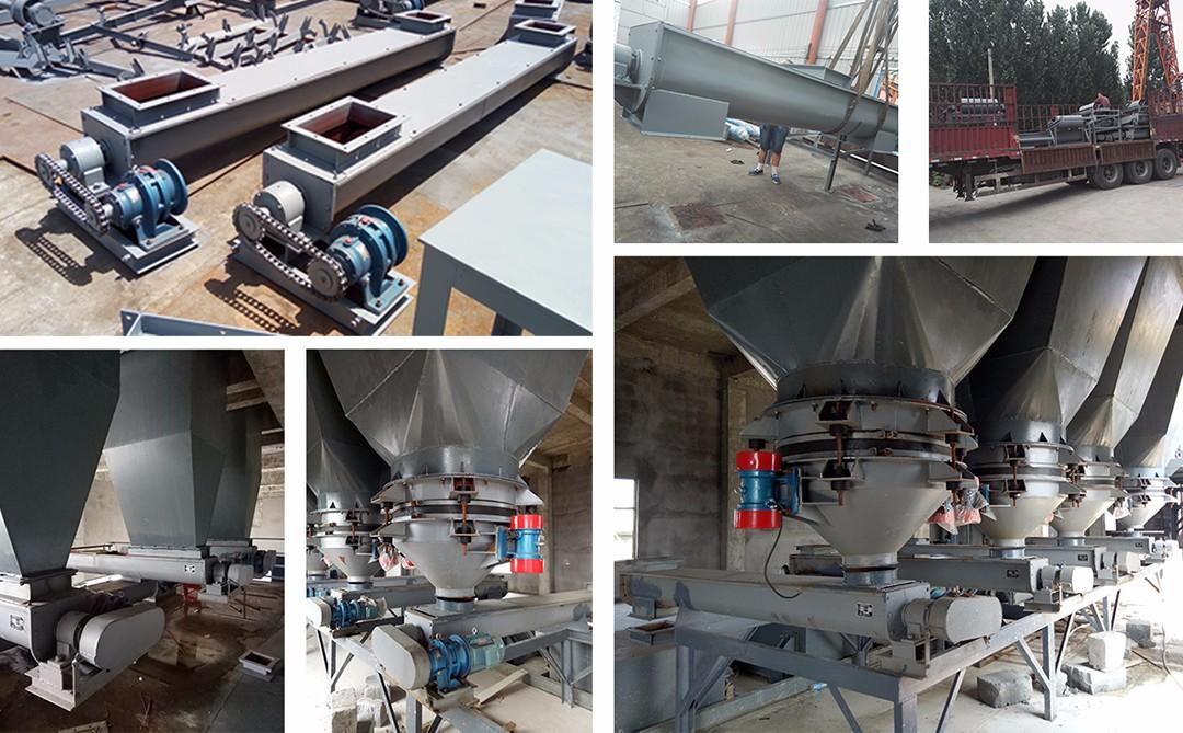 这是用在化工厂现场的U型蛟龙输送机,一共有11条,长度有4-10米的,输送物料是元明粉(洗衣粉原料);从生产完毕、装车、发货到现场安装调试的照片