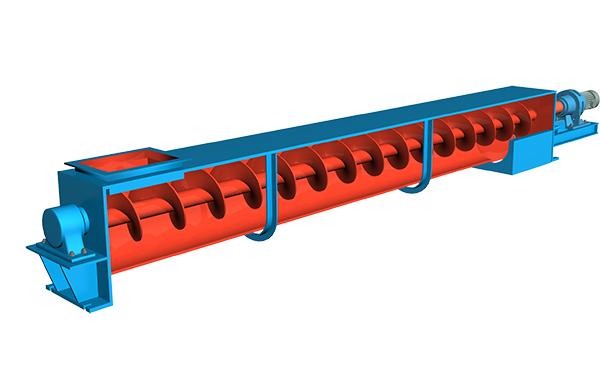 绞龙输送机3D示意图